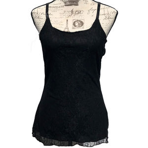 ♛5/$25♛ Maurices Layered Lace Tank Top Black M
